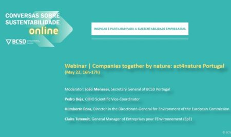 "WEBINAR ""COMPANIES TOGETHER BY NATURE: ACT4NATURE PORTUGAL"""